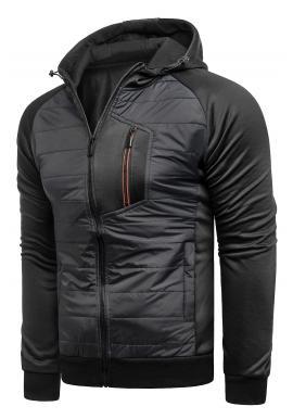 Černá přechodná bunda s kapucí pro pány