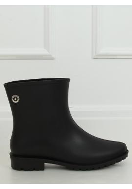 Černé matné gumáky pro dámy