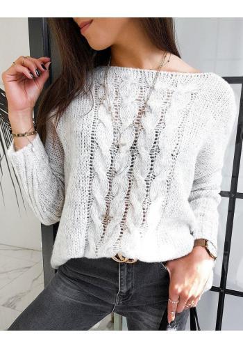 Oversize dámský svetr béžové barvy s odnímatelným rolákem