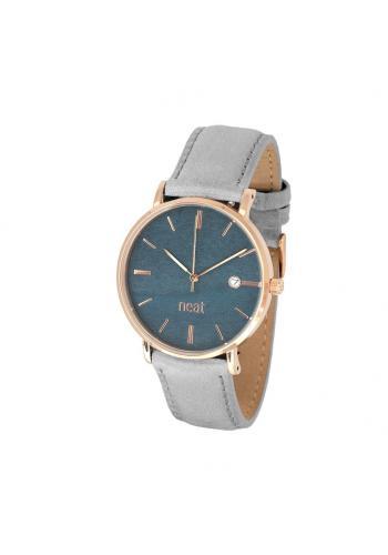 Šedé módní hodinky s koženým řemínkem pro dámy