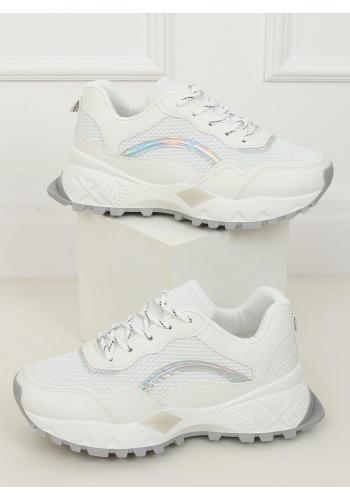 Bílé sportovní tenisky na vysoké podrážce pro dámy