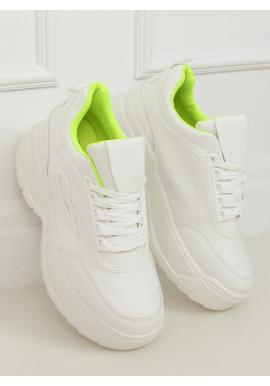 Bílo-žluté sportovní tenisky na vysoké podrážce pro dámy