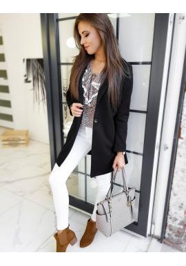 Dámské klasické kabáty v černé barvě