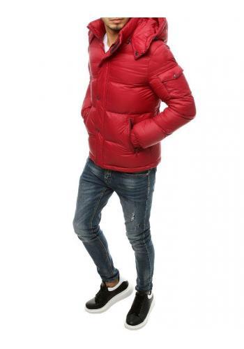 Bordová zimní bunda s prošíváním pro pány