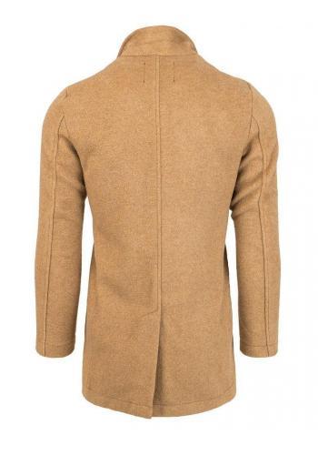 Hnědý dvouřadý kabát pro pány