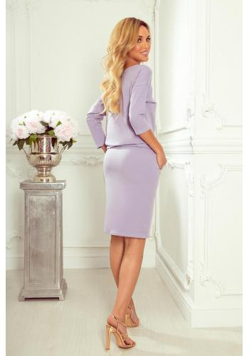 Světlo fialové sportovní šaty s vázáním pro dámy