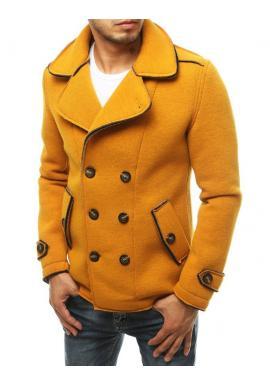 Žlutý dvouřadý kabát s ozdobnými knoflíky pro pány