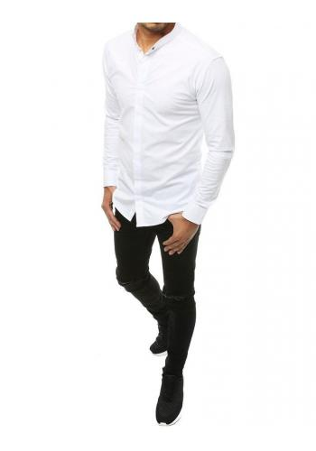 Bílá elegantní košile s dlouhým rukávem pro pány