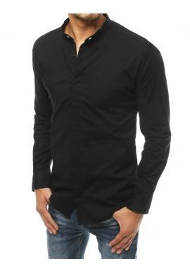 Pánská elegantní košile s dlouhým rukávem v černé barvě