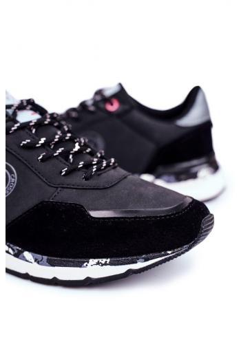Sportovní pánské tenisky Cross Jeans černé barvy
