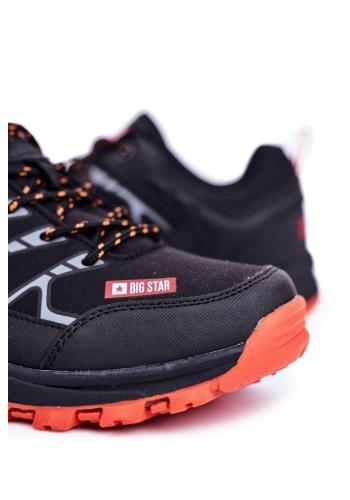 Trekingová pánská obuv Big Star černé barvy