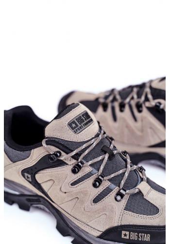 Pánská trekingová obuv Big Star v šedé barvě