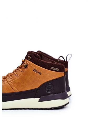 Trekingová pánská obuv Big Star hnědé barvy