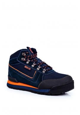Tmavě modrá trekingová obuv Big Star pro pány