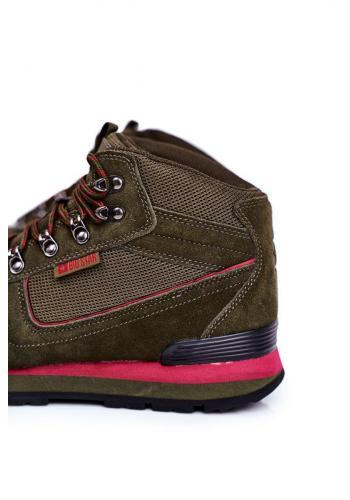 Trekingová pánská obuv Big Star kaki barvy