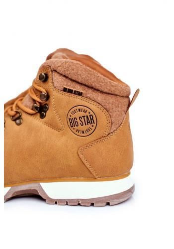 Trekingové pánské boty Big Star hnědé barvy
