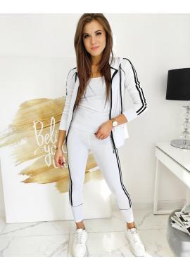 Sportovní dámská souprava 3v1 bílé barvy