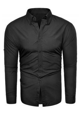 Černá košile s dlouhým rukávem pro pány