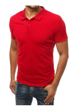 Pánská klasická polokošile v červené barvě