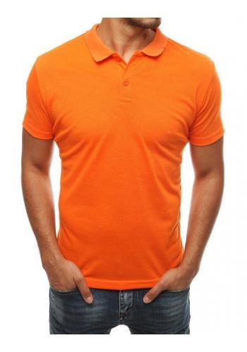 Oranžová klasická polokošile pro pány