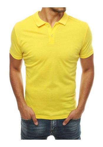 Klasické pánské polokošile žluté barvy