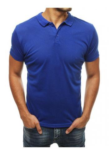 Pánská klasická polokošile v modré barvě
