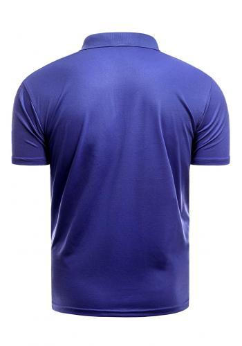 Vypasovaná pánská polokošile modré barvy s třemi knoflíky