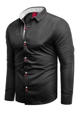 Pánská elegantní košile slim fit v černé barvě