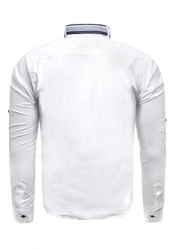 Bílá klasická košile s dlouhým rukávem pro pány