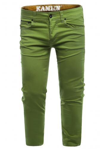 Zelené klasické chinos kalhoty pro pány