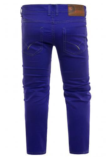 Klasické pánské chinos kalhoty modré barvy