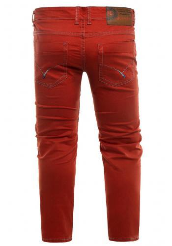 Pánské klasické chinos kalhoty v červené barvě