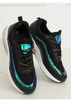 Sportovní dámské tenisky černé barvy s holografickými prvky