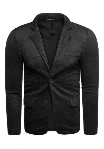 Černé neformální sako s knoflíky pro pány