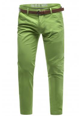 Pánské bavlněné chinos kalhoty v zelené barvě