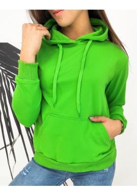 Dámské sportovní mikiny s kapucí v zelené barvě