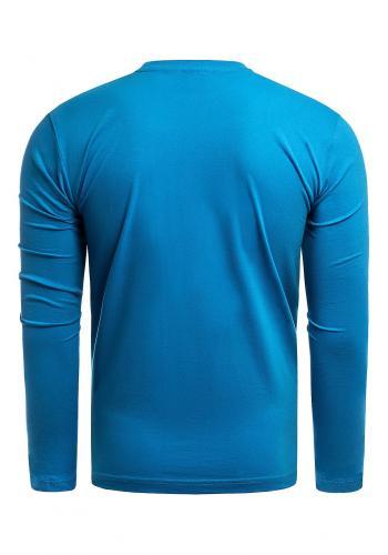 Pánské bavlněné tričko s dlouhým rukávem v světle modré barvě