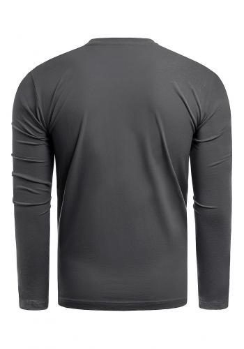 Černé bavlněné triko s dlouhým rukávem pro pány