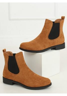 Hnědé klasické boty s elastickými vložkami pro dámy