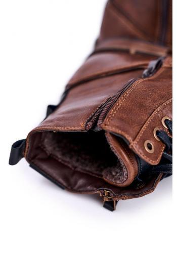 Pánské oteplené kotníkové boty v hnědé barvě