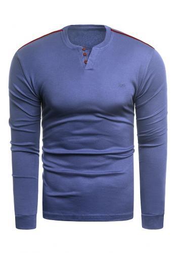 Klasický pánský svetr modré barvy