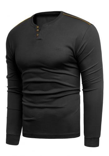 Pánské klasické svetry v černé barvě