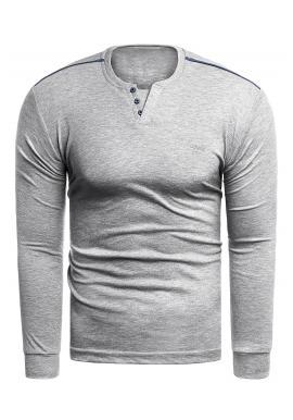 Šedý klasický svetr pro pány