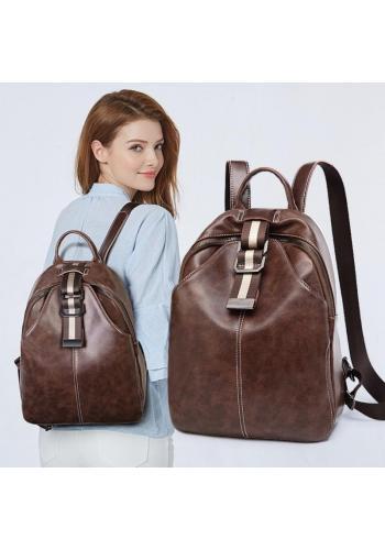 Dámský voskovaný elegantní batoh v hnědé barvě