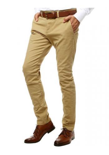 Pánské elegantní Chinos kalhoty v béžové barvě