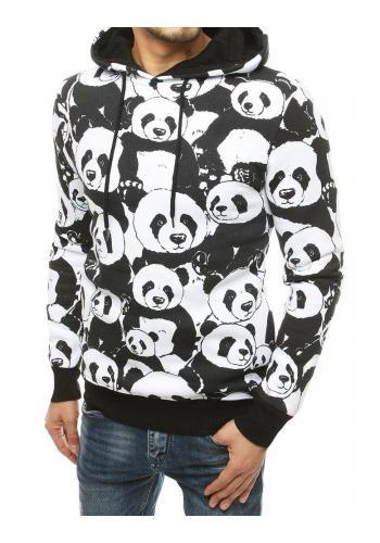 Bílá oteplená mikina s pandami pro pány
