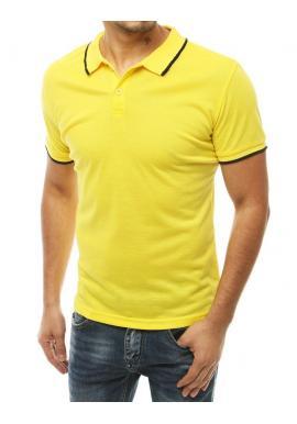 Pánská klasická polokošile ve žluté barvě