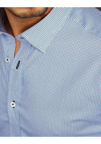Pánská bavlněná košile se vzorem v bílé barvě
