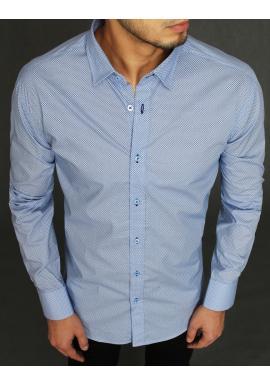 Bavlněná pánská košile světle modré barvy se vzorem
