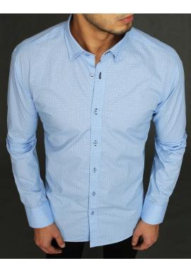 Pánská květovaná košile s dlouhým rukávem v světle modré barvě